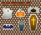 Etiqueta cute Halloween — Vector de stock