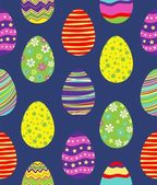 Seamless pattern with easter eggs — Vector de stock
