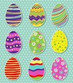 Set of easter eggs isolated — Stock Vector