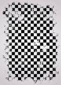 Grunge racing flag — Vetor de Stock