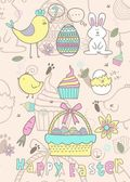 Easter story with fun color — Stock Vector