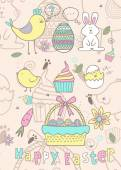Easter story with fun color — Stockvektor