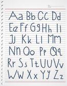 Alphabet kiddies — Stock Vector