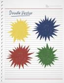 Bubble DOODLE VECTOR — Vector de stock