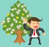 BUSINESSMAN ICON HAVE MONEY TREE — Stock Vector