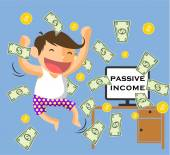Passive income — Stock Vector