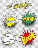 BUBBLE COMIC ELEMENT SET — Stock Vector