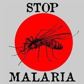 Stop malaria — Stock Vector