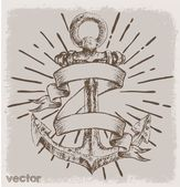 Anchor print tees vector and background — Stock Vector