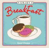 Breakfast menu box or illustration — Stock Vector