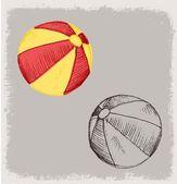 TOY BALL BEACH — Stock Vector
