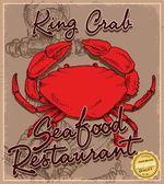 Doodle crab menu — Vetor de Stock