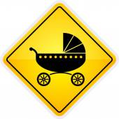 Baby cart or baby on board sign — Stock Vector