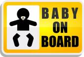 Baby on board label or sign — Stock Vector
