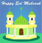 Happy eid mubarak — Stock Vector