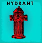 HYDRANT DOODLE ICON — Stock Vector