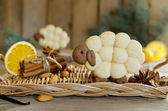 Almond biscuits Lamb with spices — Stock Photo