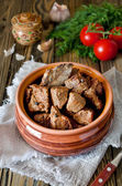 Beef stew with Bay leaf and pepper — Stock Photo