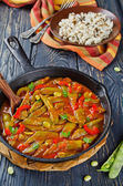 Vegetable stew with beans — Stock Photo