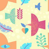Seamless fill with birds — Cтоковый вектор