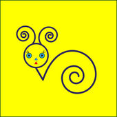 Snail icon  on yellow background  — Wektor stockowy