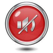 Mudo o ícone circular sobre fundo branco — Fotografia Stock