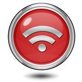 Signal circular icon on white background — Stock Photo