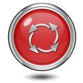 Okrągła ikona na białym tle nieużytek — Zdjęcie stockowe