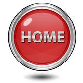 Home circular icon on white background — Stock Photo