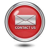 Contact us circular icon on white background — Stockfoto