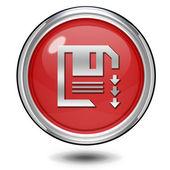 Save circular icon on white background — Stock Photo