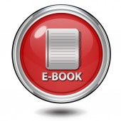 E-book circular icon on white background — Foto de Stock