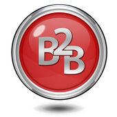 B2B circular icon on white background — Photo