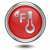 Fahrenheit circular icon on white background — Photo
