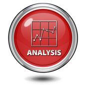 Data analysis circular icon on white background — Foto Stock