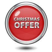 Boże Narodzenie oferty okrągła ikona na białym tle — Zdjęcie stockowe
