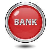 Bank circular icon on white background — Foto Stock