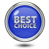Best choice circular icon on white background — Stock Photo