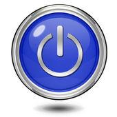 Rundschreiben-power-symbol auf weißem hintergrund — Stockfoto