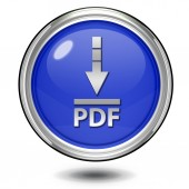 Pdf download circular icon on white background — Stock Photo