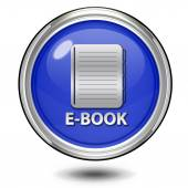 E-book circular icon on white background — Stock fotografie