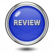 Review circular icon on white background — Stock Photo