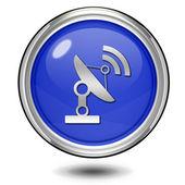 Satellite circular icon on white background — Stock Photo