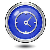 Clock circular icon on white background — Stok fotoğraf