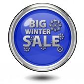 Winter sale circular icon on white background — Stock Photo