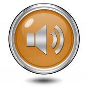 Volume circular icon on white background — Stock Photo