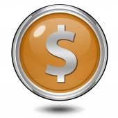 Money circular icon on white background — Stock Photo