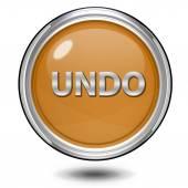 Undo circular icon on white background — Stock Photo