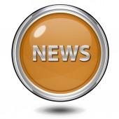 News circular icon on white background — ストック写真