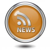 News circular icon on white background — 图库照片